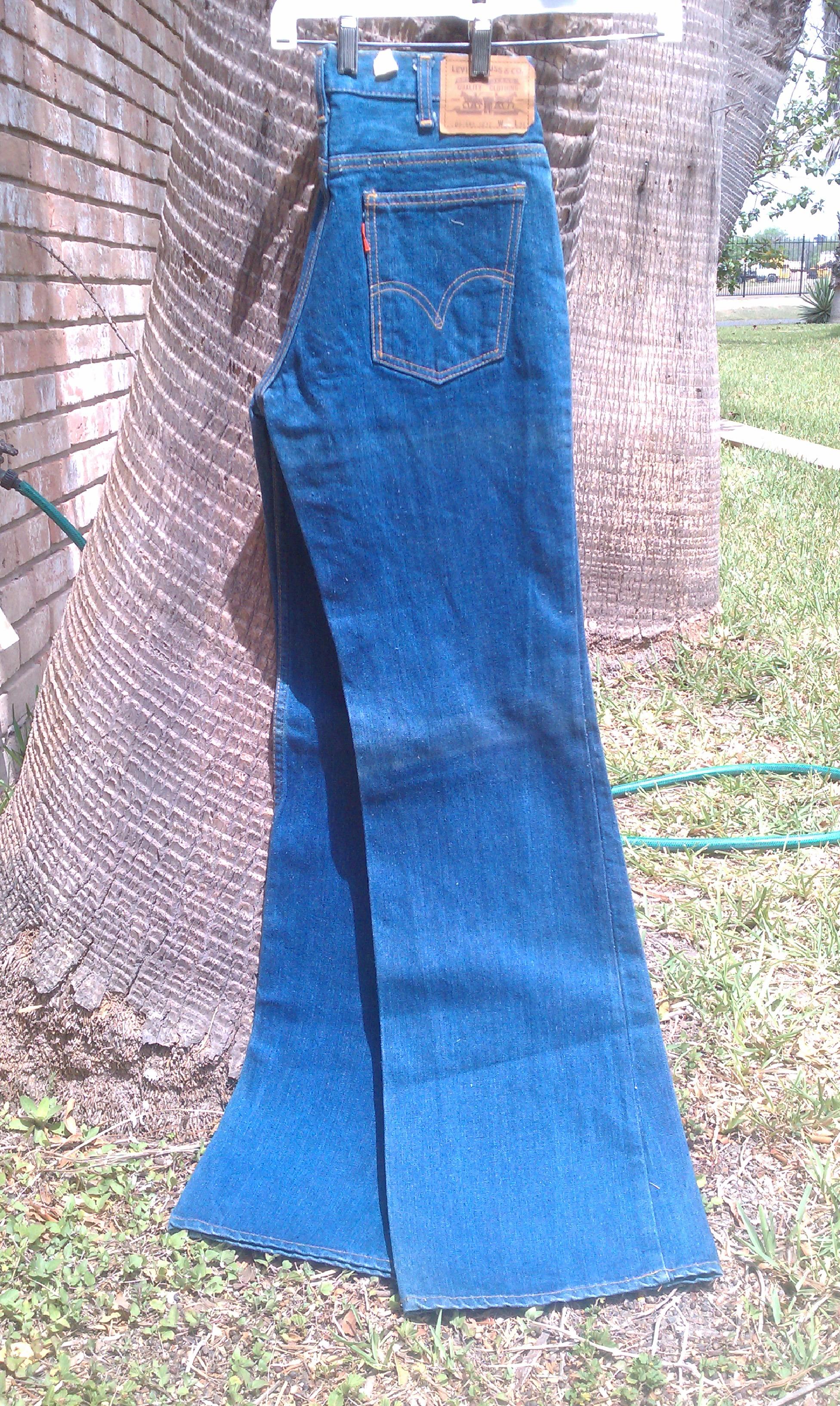 Levis 212 Heavy 14 Oz Denim 70s Vintage Big Bell Bottom Jeans