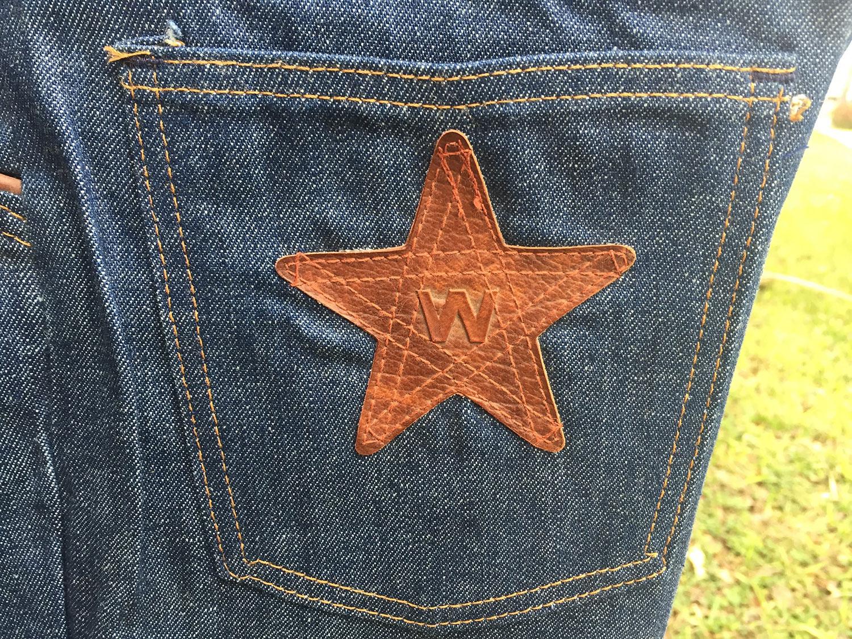 67009322 Wrangler Star 70s Vintage 100% 12oz Cotton Denim BIG Bell Bottom ...