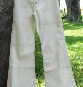 Wrangler WPL 6428 White HUGE 70s Vintage Bell Bottom Jeans