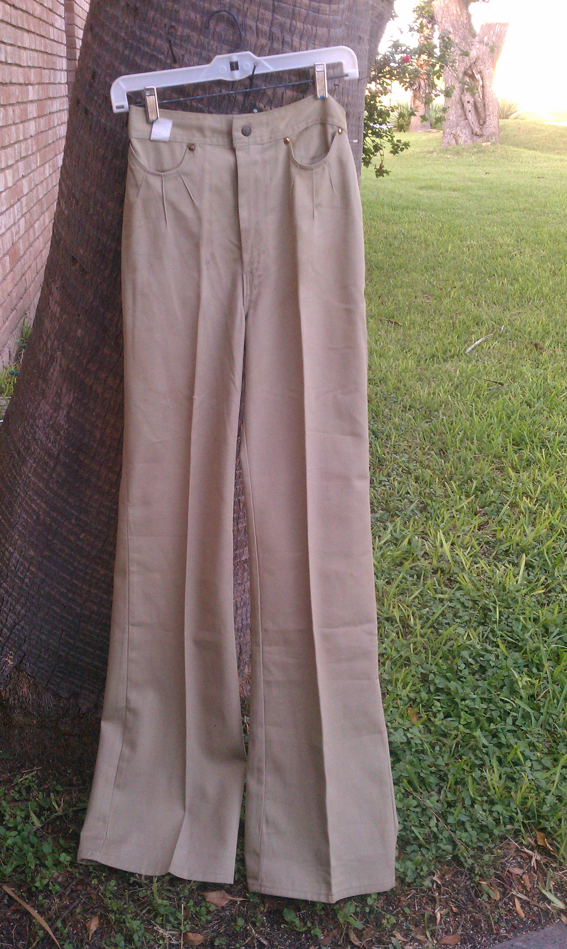 Rumble Seat Khaki For Lady S 70s Bell Bottom Pants