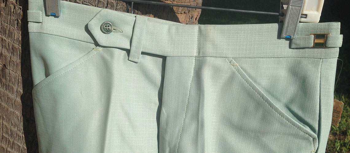 Campus Concept 2 Fern Green 70s Polyester Dress Flare Pants