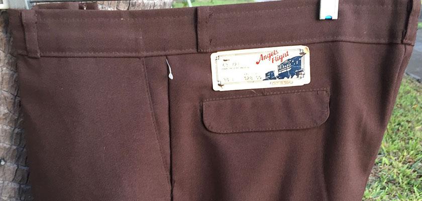 Angel Fight 70s Vintage Dark Brown Boot Cut Pants