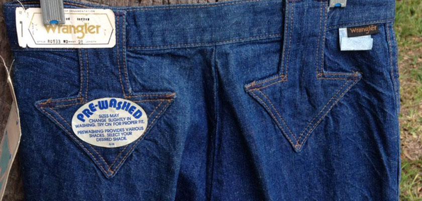 """Wrangler For Girls RO933 """"Down Arrow"""" 70s Vintage BIG Bell Bottom Denim Jeans"""