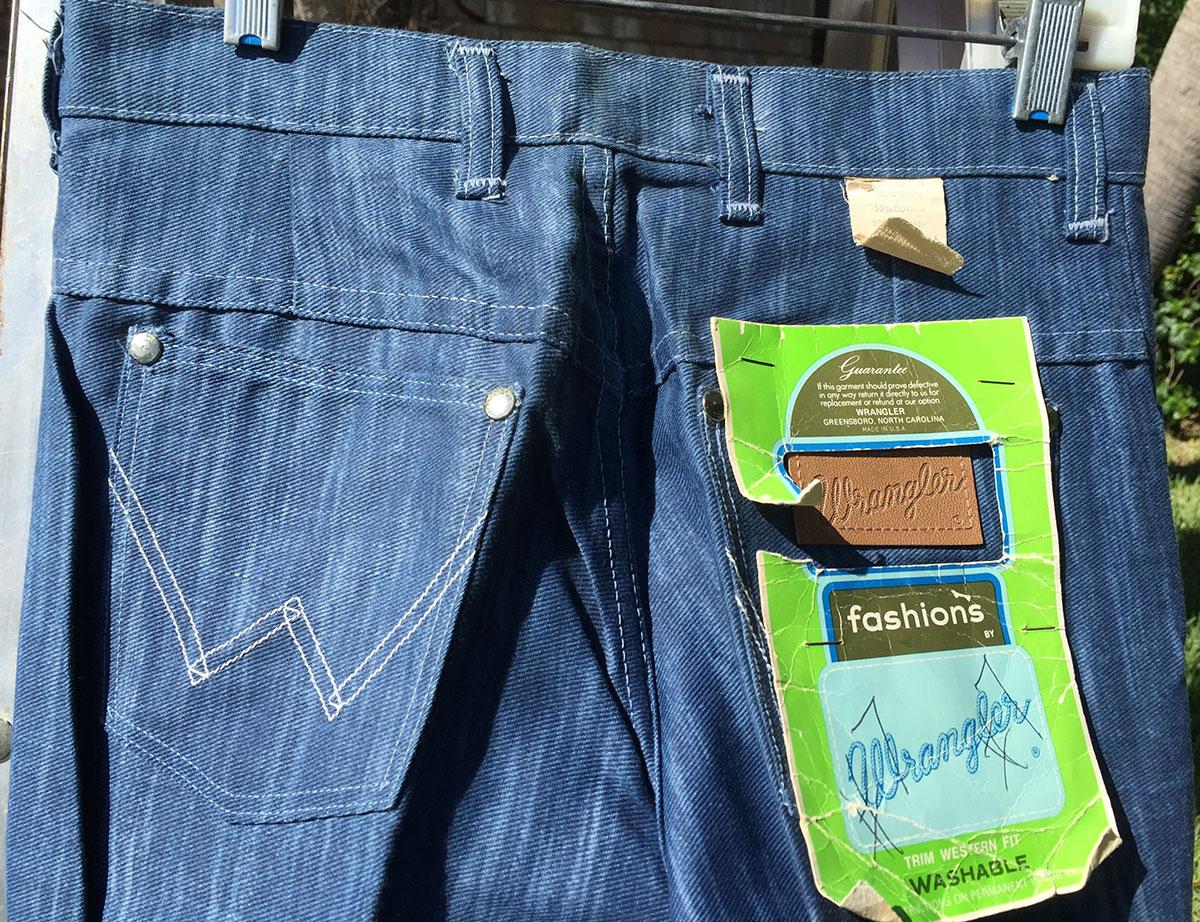 dd9528c9 Wrangler R0223 70s Vintage Flower Flare Bell Bottom Denim Jeans ...