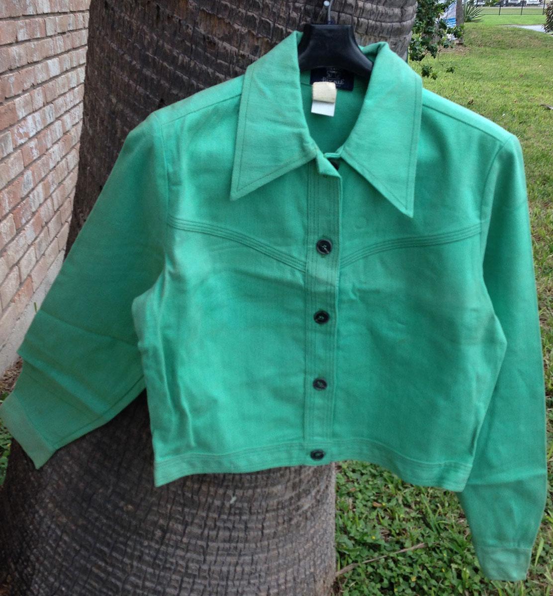 Blue Buckle 70s Vintage 14oz Combed Cotton Green Jacket