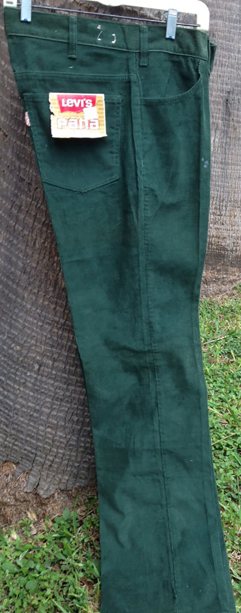 Levis Green 70s Vintage Corduroy Boot Cut Pants