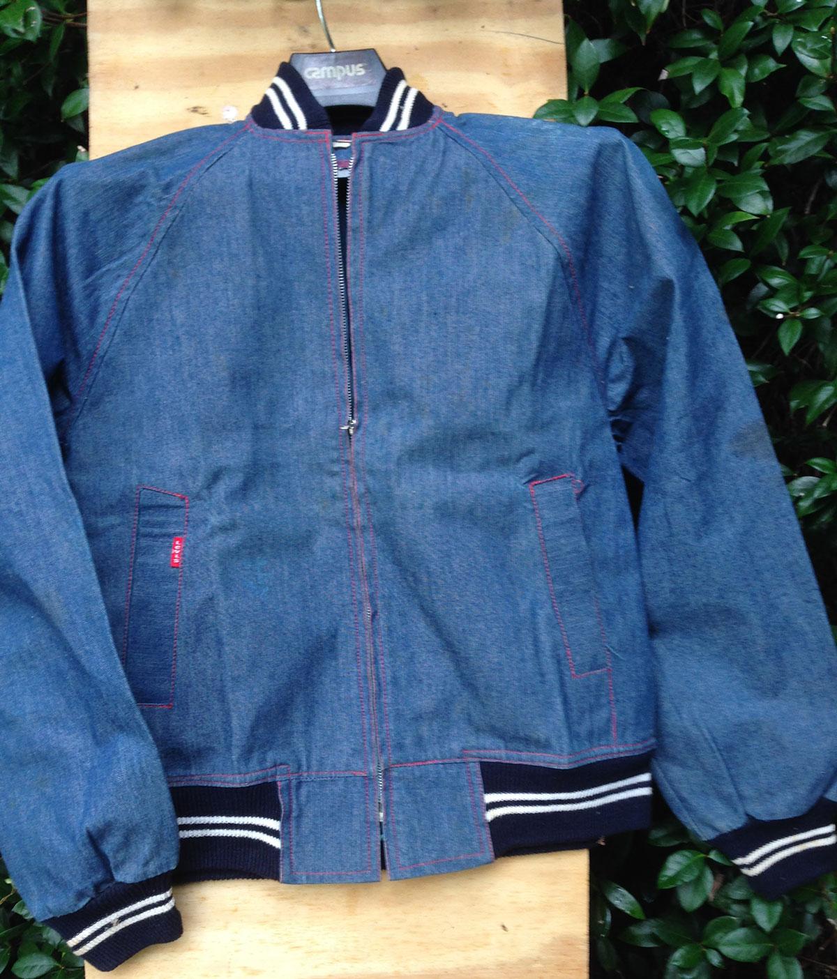 Levis Baseball 70s Vintage Denim Jacket Red Label
