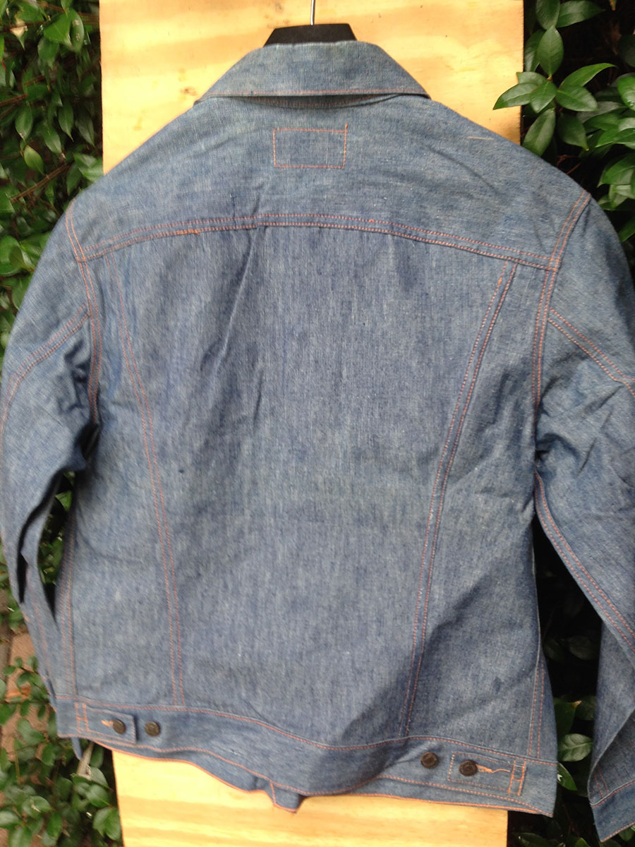 Levis 516 70s Vintage Denim Jacket Orange Label With Tag
