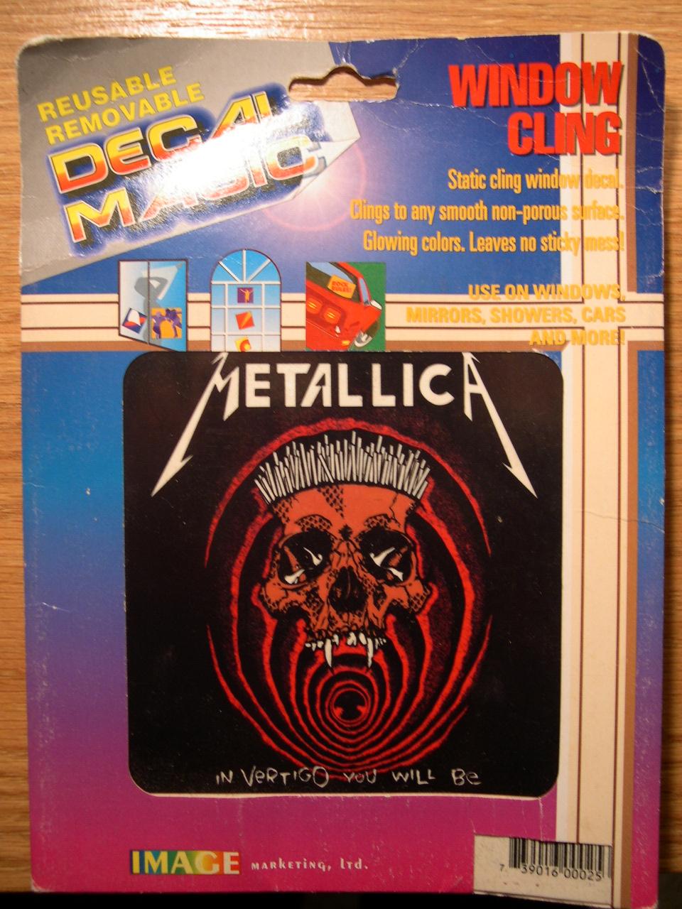 Metallica In Vertigo You Will Be Decal Magic Removable