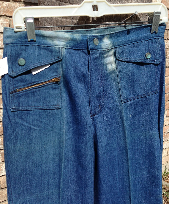 Zodiacs Vintage 70s Bell Bottom Jeans Mens Women