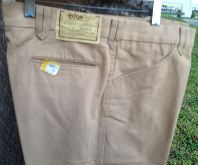 Sedgefield Semi Western 70s Vintage Almond Boot Cut Pant