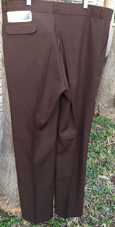 angel flight 70s vintage dark brown boot cut pants