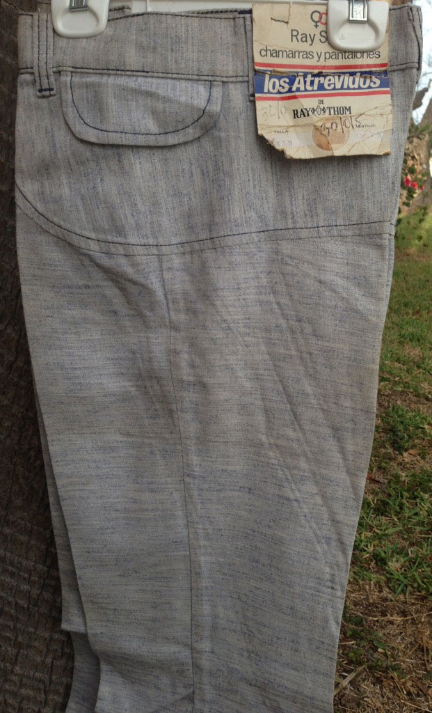 Atrevidos Grey White 70s Big Bell Bottom Pants