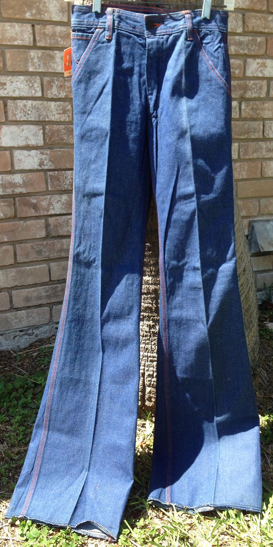 f78e86782d Faded Glory Regular Heavy Denim 4 Pocket 70s Bell Bottom Jeans