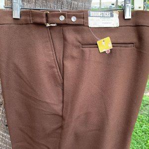 Glen Oaks Broomsticks 40X32 22B Brown Polyester Pants