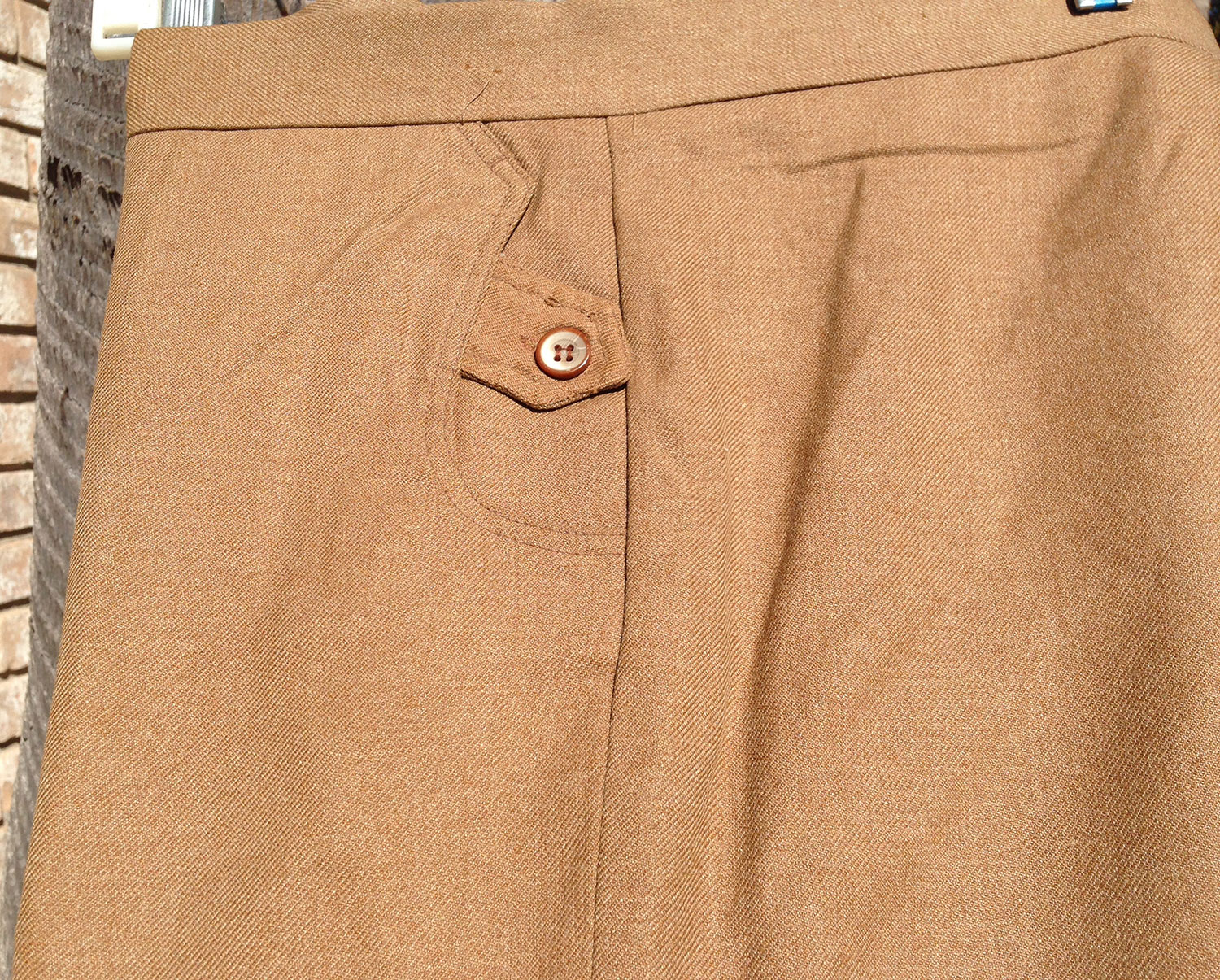 Cartel 70s Brown Wool Rayon Dress Trouser Bell Bottom Pants