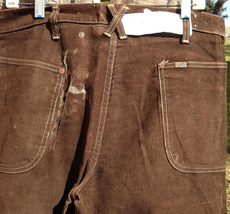 Lee Brown Corduroy 70s Vintage Big Bell Bottom Pants