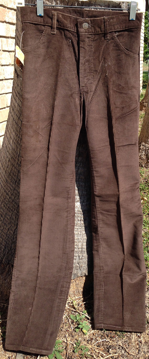 Lee Eagle Brown Polyester Corduroy 70s Boot Cut Pants