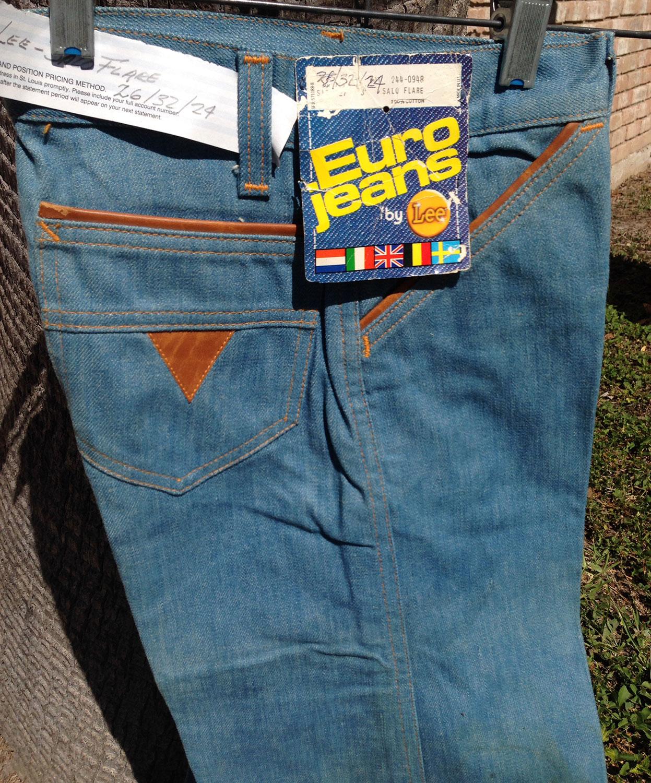 b69dd43e Lee Euro Salo 70s BIG Bell Bottom Vintage Denim Jeans