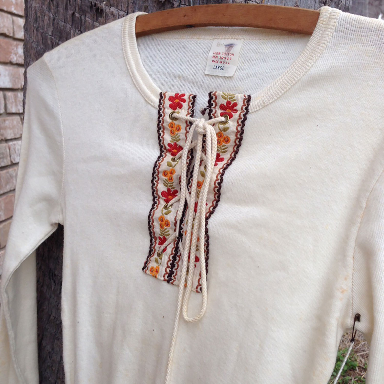 Plain Top 100 Cotton Rn19347 Flower Long Sleeve Dress Large