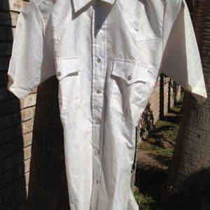 Plainsman Western Polyester White Shirt
