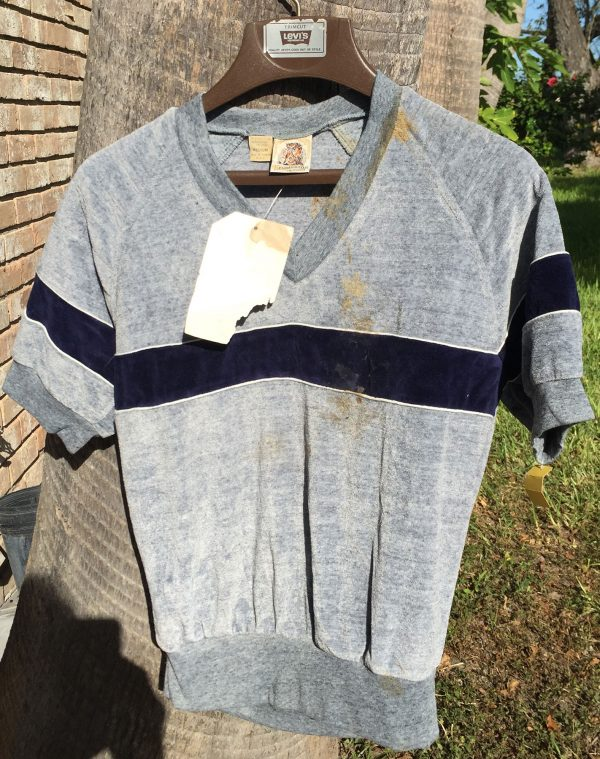 Kennington Gray Velour Short Sleeve Medium Shirt