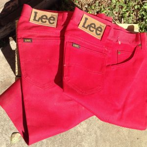 Lee Red Girls Boot Cut Polyester / Cotton Pants