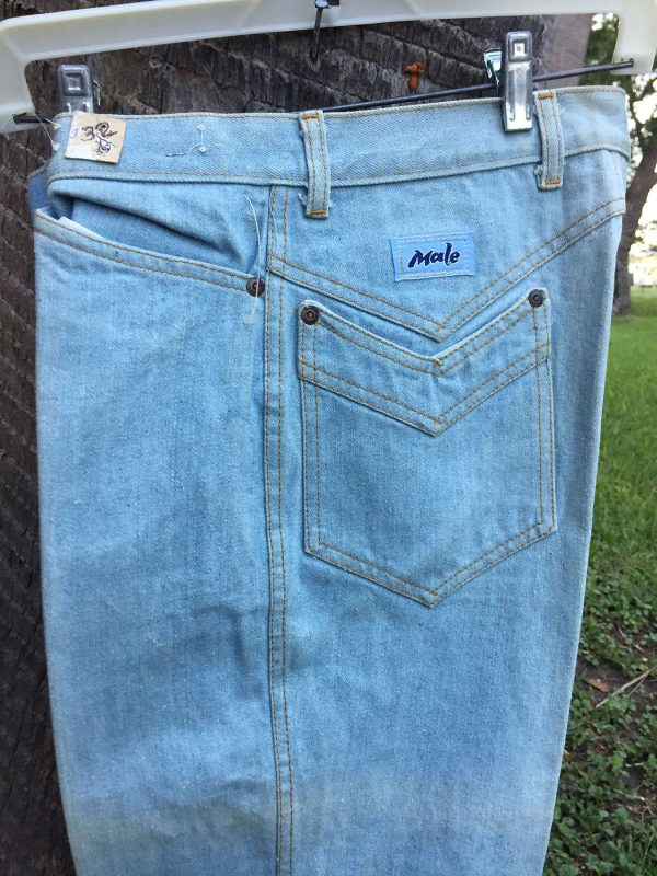 Male Bleached Boot Cut Jeans 32X35
