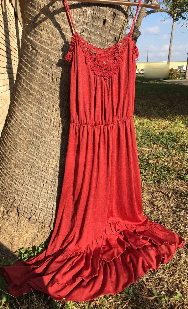 Roberts Of California Dress -- 100% Polyester Size 7/8 32-34 waist.