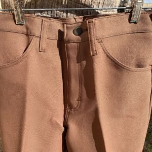 Wrangler Wrancher Brown Polyester Boot Cut Stretch Pants - 29X34 - 00082CF