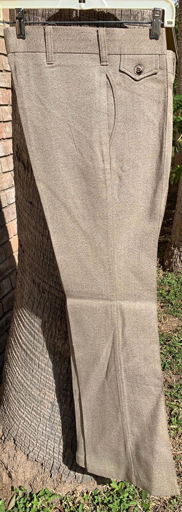 Wrangler Light Brown Tweed 70s Vintage Bell Bottom Pants - 31X32 - 23 Inch Bell