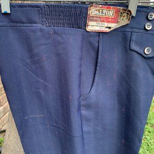 Dalton Dark Blue Stripe 143 Pants 34X32 22B
