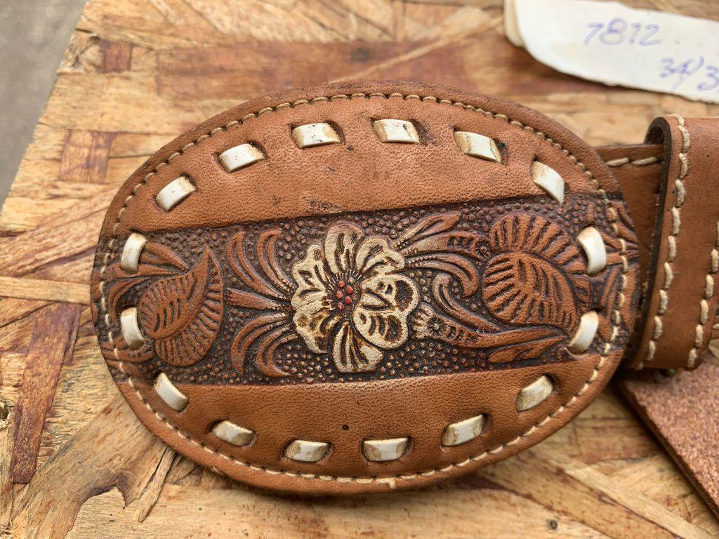 Flower Buckle 2613 Kenny Rogers Western Belt