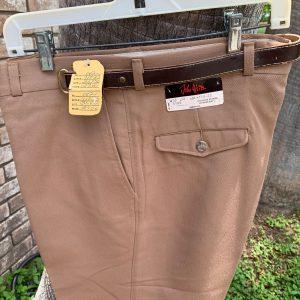 John Weitz Star Boot Cut Light Brown Trouser Pants with Attached Belt 36X30 20B